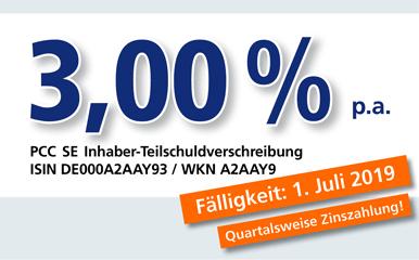PCC-Anleihe 3,00 % p.a.
