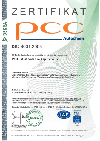 ISO 2008 Zertifikat DE