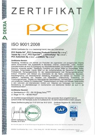 ISO Zertifikat 2008 DE