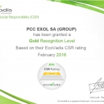 ecovadis 2015 gold_certificate_pcc exol