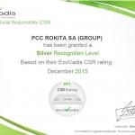ecovadis 2015 silver_certificate_pcc rokita