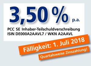PCC-Anleihe 3,50 % p.a.