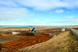 PCC BakkiSilicon - Work commences on developing the new Bakki industrial park on the outskirts of Húsavík, including preparation and installation of the infrastructure for our silicon metal plant.