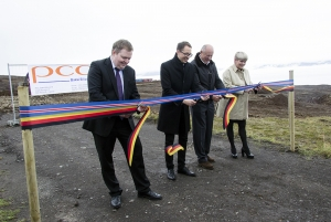 PCC BakkiSilicon - On September 17, 2015, Waldemar Preussner, Chairman of the Administrative Board of PCC SE, officially inaugurates the construction site in the new Bakki industrial park near to the town of Húsavík in the north of Iceland. The ceremony is attended by high-ranking representatives from the world of business and politics.