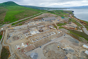 PCC BakkiSilicon - The building work on the silicon metal production plant of PCC BakkiSilicon hf in the north of Iceland continues to proceed to schedule and within budget, as has also been the case in the preceding quarters. Following erection of the steel structure supporting the 3,600 m<sup>2</sup> coal storage facility, the roof has also now almost been completed. Currently, the cladding panels for the side and end walls of the building are being installed. At the same time, work has begun on erection of the first of the two electric arc furnaces. Following the concrete work on the foundations, the rotary gear rim has also now been installed.