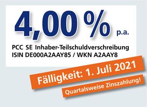 PCC-Anleihe 4,00 % p.a.