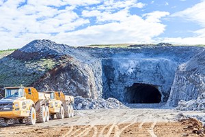 PCC BakkiSilicon - The final blast on August 24 opened the northern entrance of the tunnel connecting the plant with the port of Húsavík. Lining of the tunnel begins.