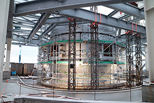 PCC BakkiSilicon - The first furnace shell has been installed.