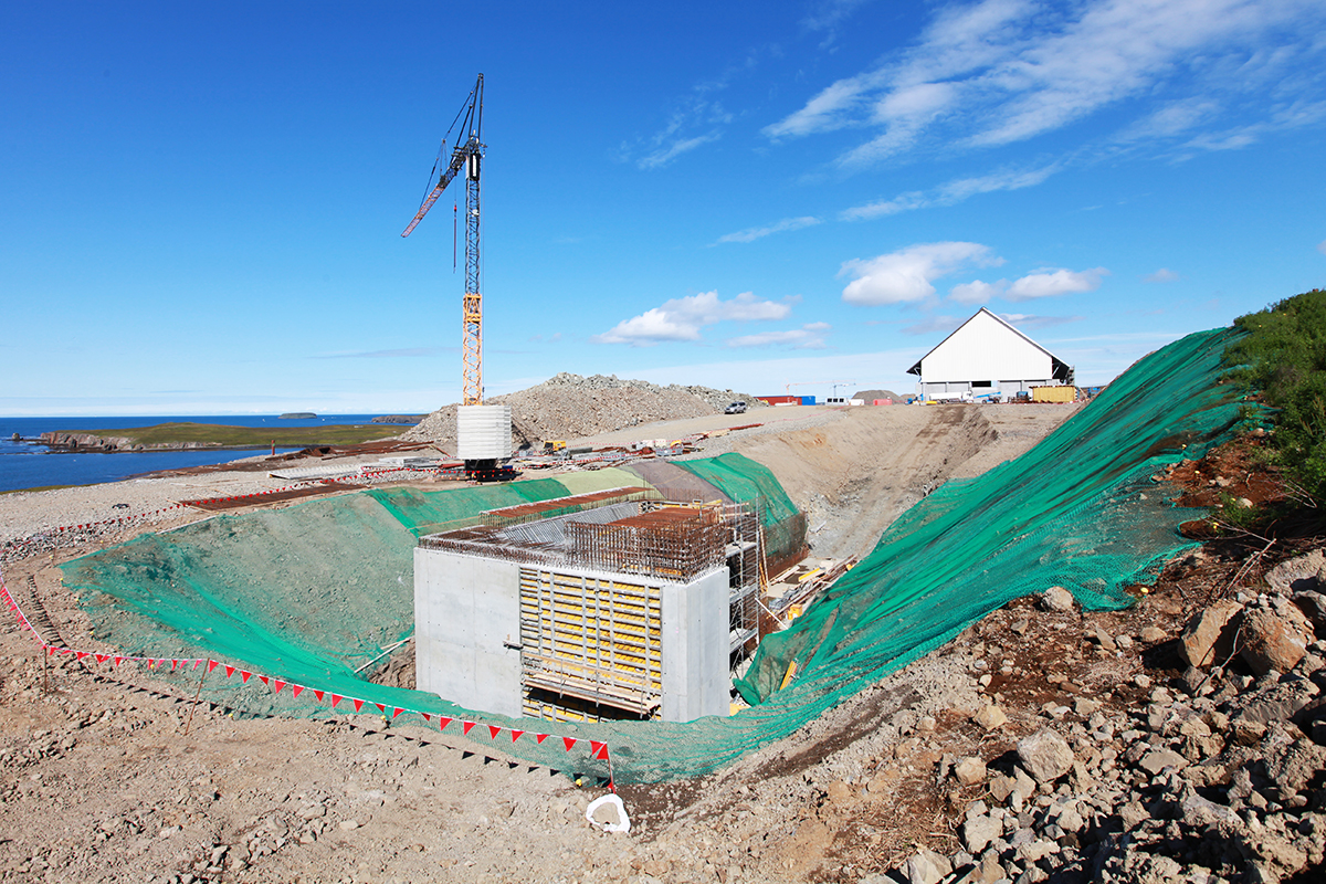 Baustellenansicht im August 2016