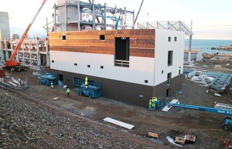 Baustellenansicht im Februar 2017