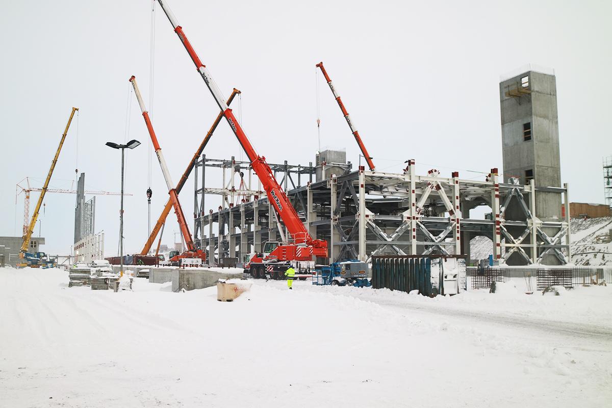 Baustellenansicht im Januar 2017