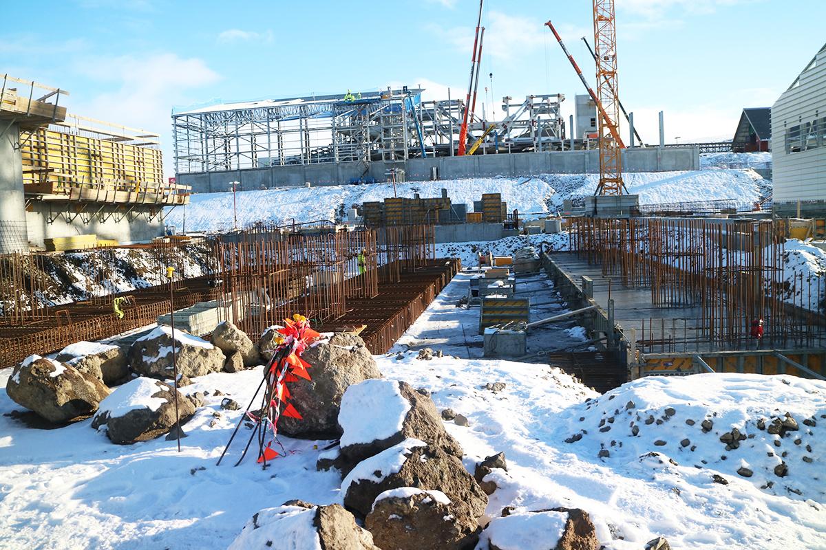 Baustellenansicht im März 2017