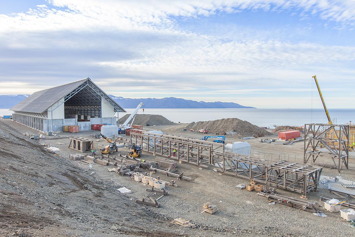 Baustellenansicht im Oktober 2016