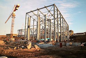 PCC BakkiSilicon - Der Stahlbau für die Produktverpackung wurde abgeschlossen.