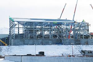 PCC BakkiSilicon - Cladding work on the silicon warehouse has started.