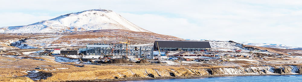 PCC BakkiSilicon - Panoramic view of the construction site in March 2017