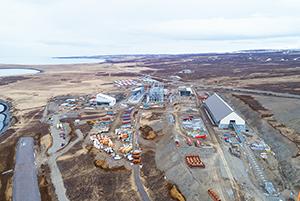 PCC BakkiSilicon - Gesamtansicht der Baustelle Mitte April 2017