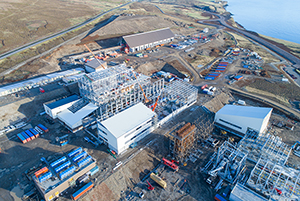 PCC BakkiSilicon - Bird's-eye view of the construction site in May 2017