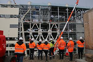 PCC BakkiSilicon - Baustellenbesuch durch Repräsentanten der KfW-Bank und Beratern der Bank.