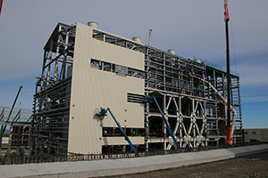 PCC BakkiSilicon - Furnace building seen from the raw material silos.