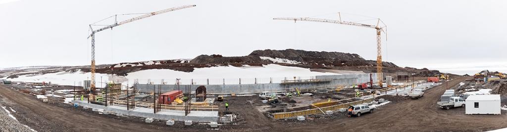 PCC BakkiSilicon - Panoramaansicht der Baustelle im April 2016