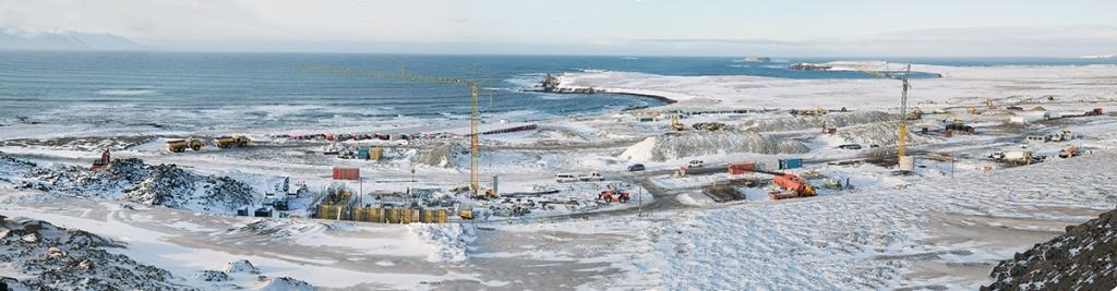 PCC BakkiSilicon - Panoramaansicht der Baustelle im Februar 2016