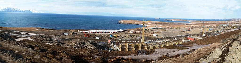 PCC BakkiSilicon - Panorama placu budowy w marzec 2017 roku