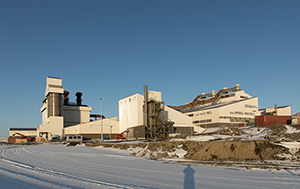 PCC BakkiSilicon - View of the dedusting units, consisting of dust silos, filter house, screening and shipping department and dedusting unit for the silicon screening station (from left to right).