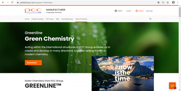 GREENLINE - sustainable chemistry at PCC
